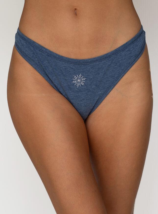 Snowflake marl thong
