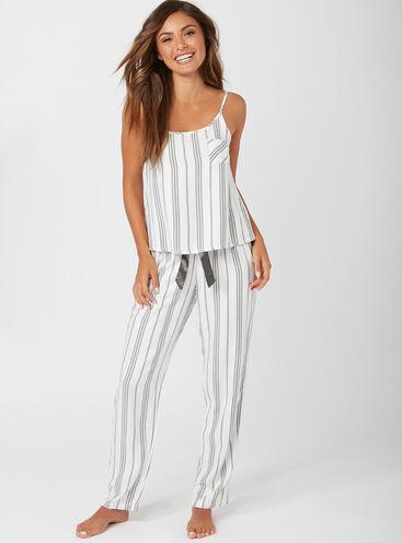 Mono stripe cami and pants pyjama set 3b701aeaa