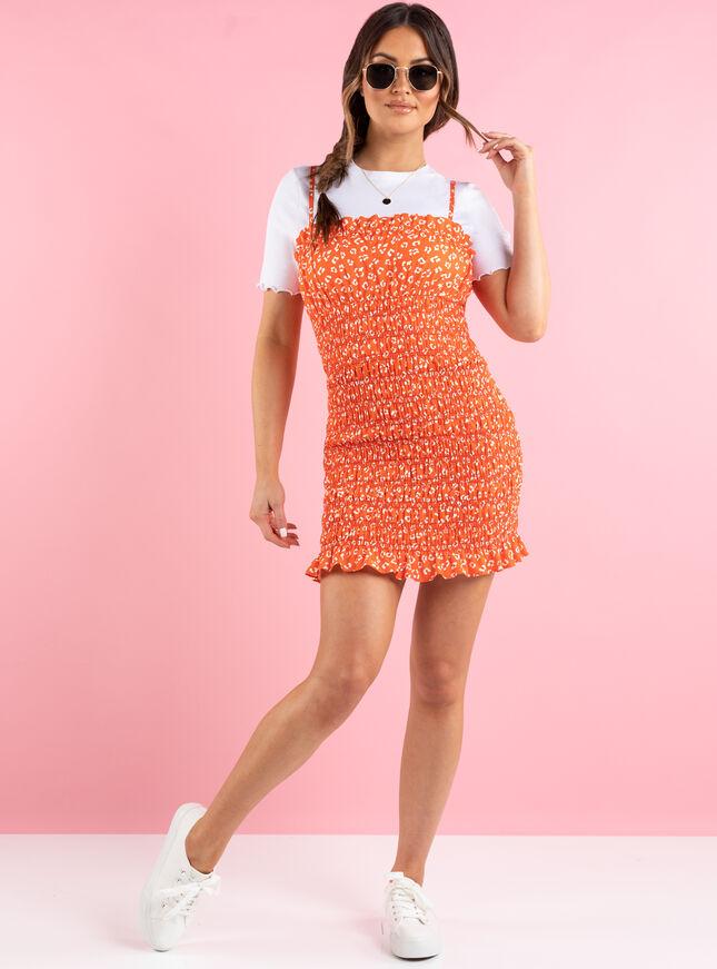 Georgia animal mini dress