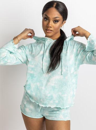 Tie dye soft touch hoodie set