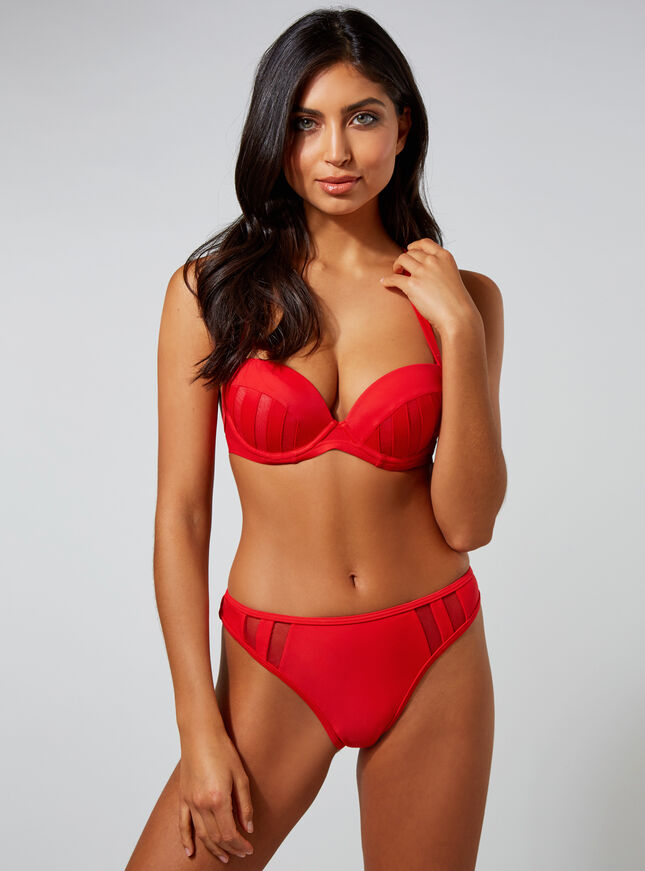 Paxos mesh Brazilian bikini briefs