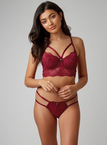 Odette deco longline lingerie set