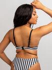 Mirissa mono stripe bikini top
