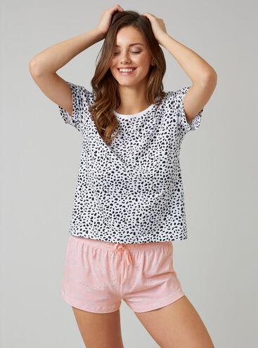 Dalmatian tee and shorts set