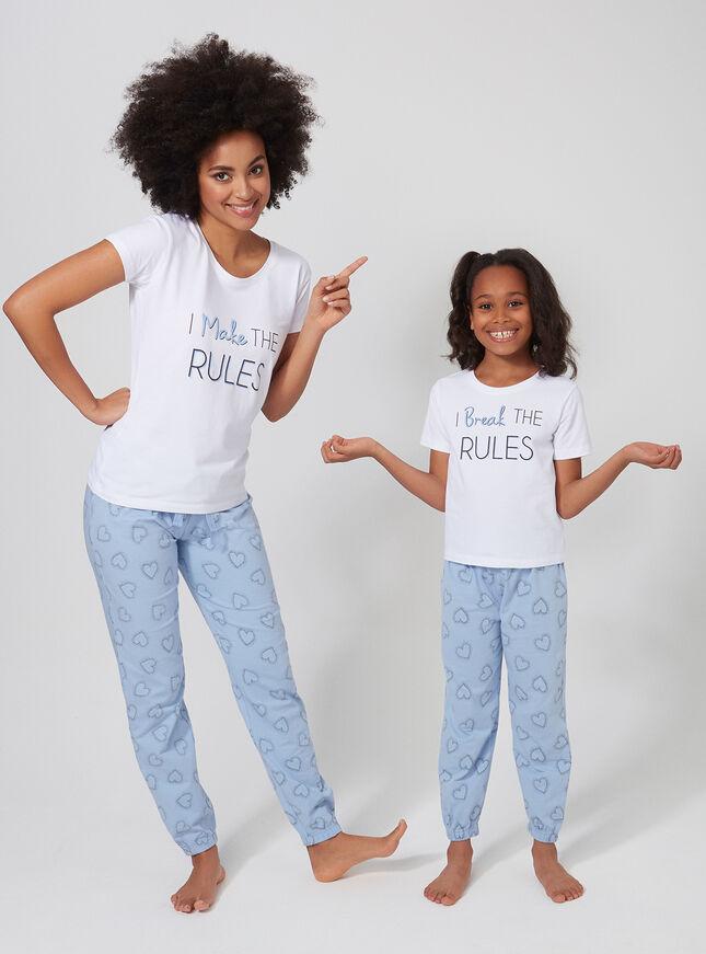 Girls 'I Break the rules' pyjama set