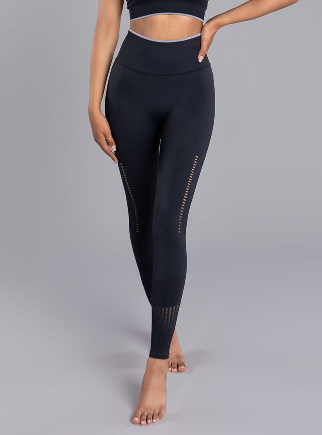Boux Sport jacquard textured leggings