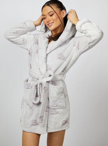 Bx logo short dressing gown