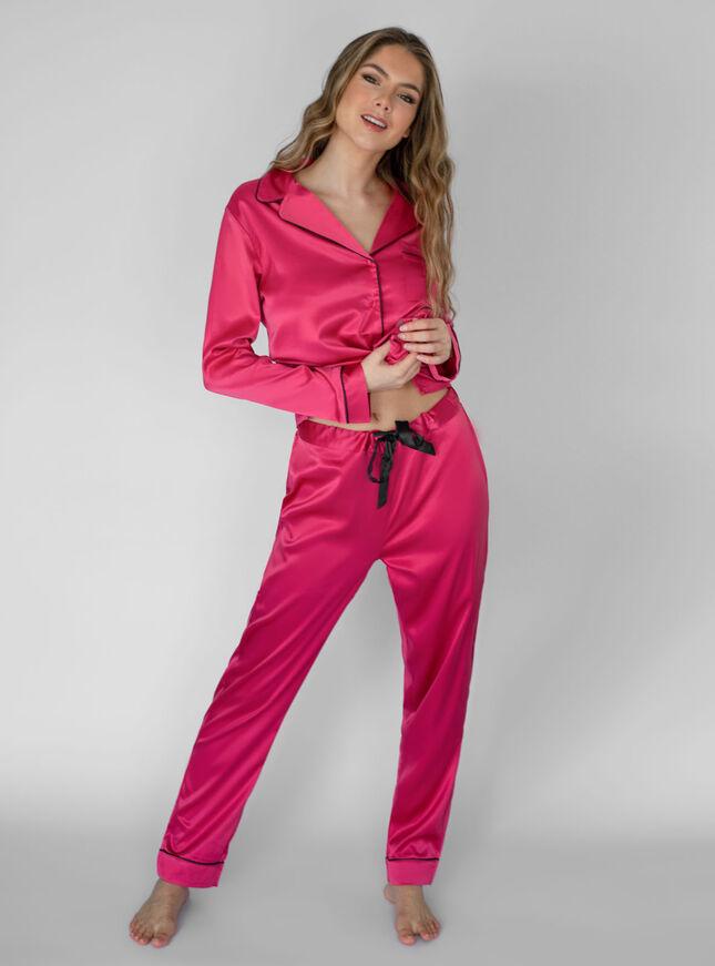Satin revere pyjama set