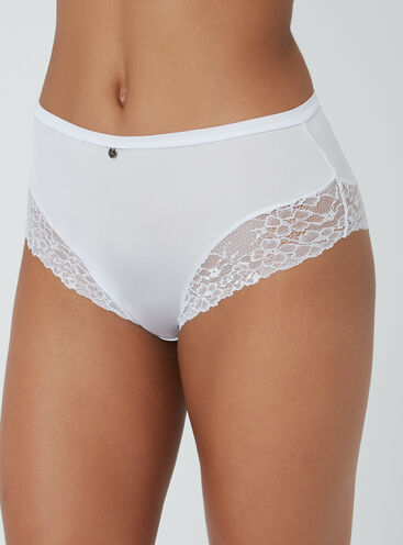 Microfibre high-waisted briefs