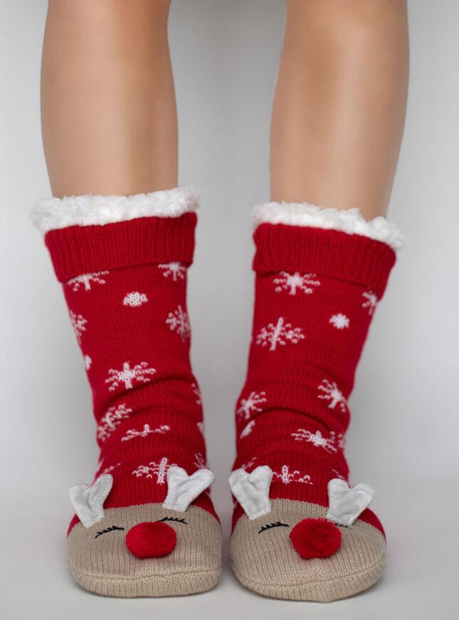 Reindeer slippers socks