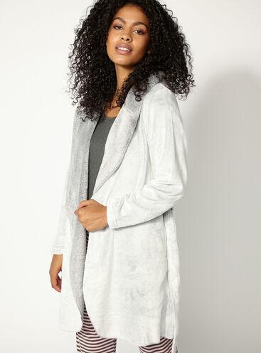 Hooded waterfall robe
