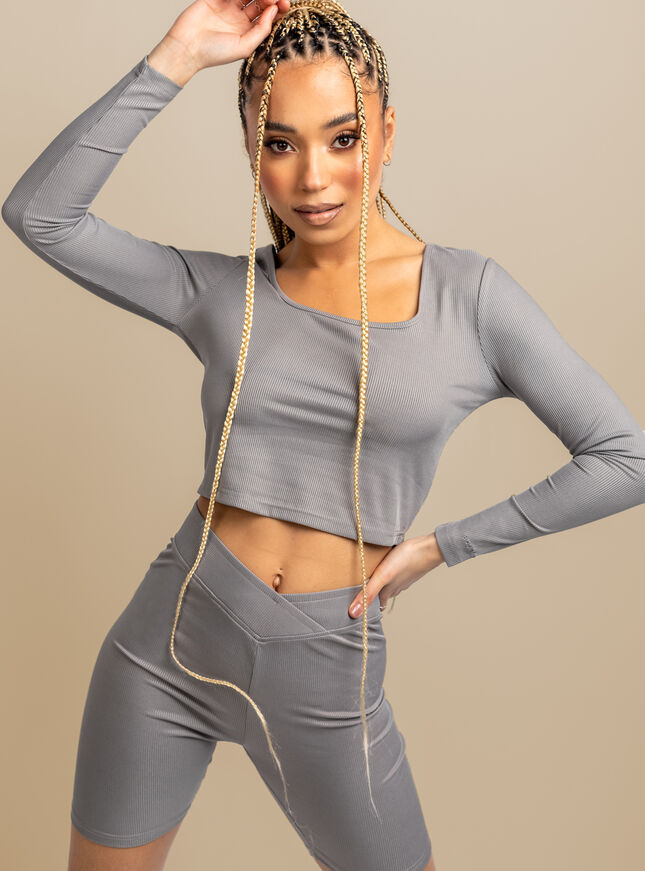 Tilly ribbed long sleeve top