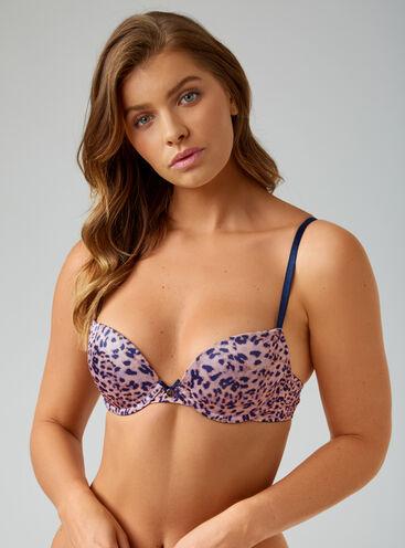 Lillie leopard plunge bra