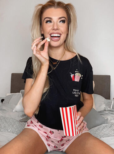 Popcorn tee & shorts