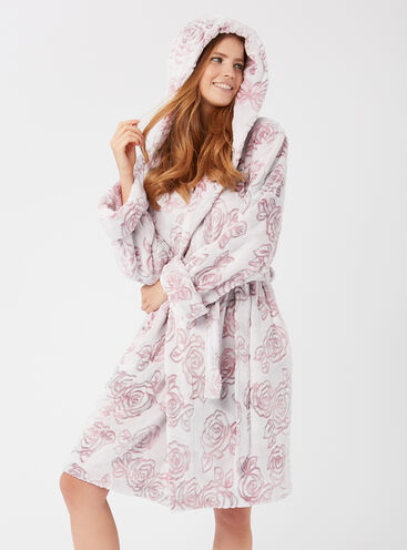 Dusky rose dressing gown