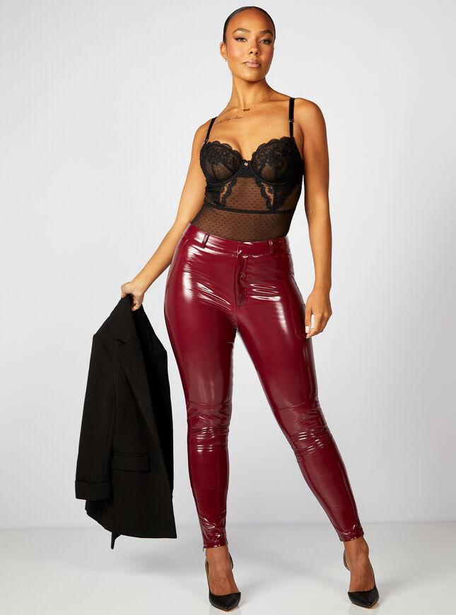 High shine wet look leggings