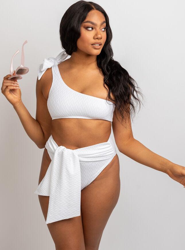 Java textured crop bikini set