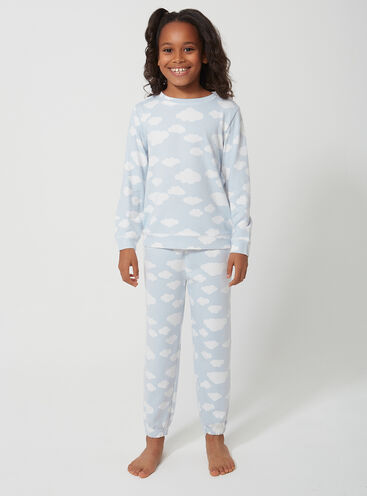Girls cloud print twosie