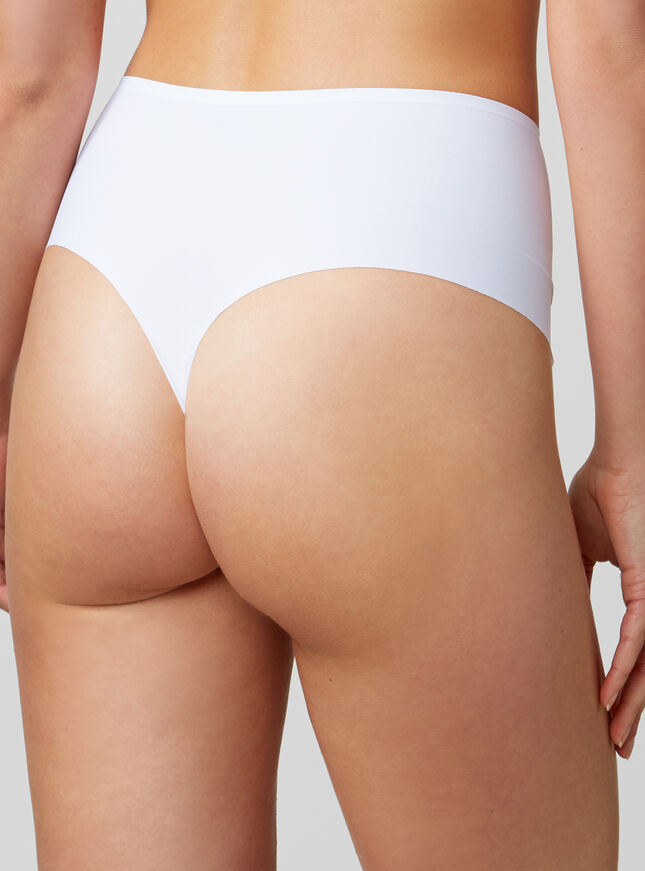 Bonded high-waisted thong