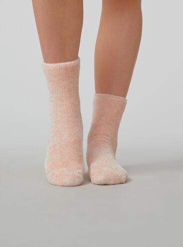 Velvet fleece sock