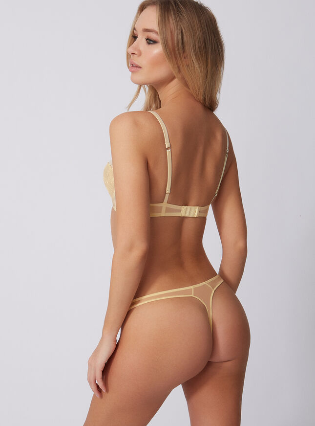 Lindy embroidered thong