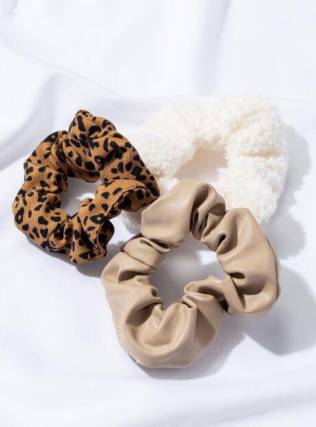 3 pack mix-textured scrunchies