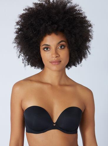 Strapless padded plunge bra