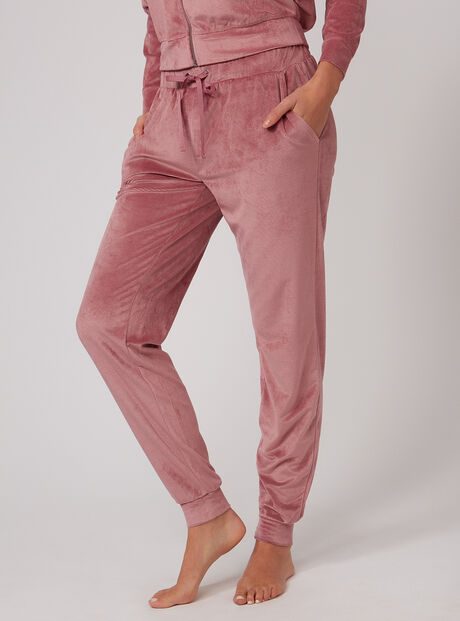 Ribbed velour joggers
