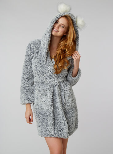 Frosted borg dressing gown