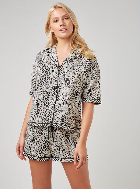 Leopard and giraffe print pyjama set