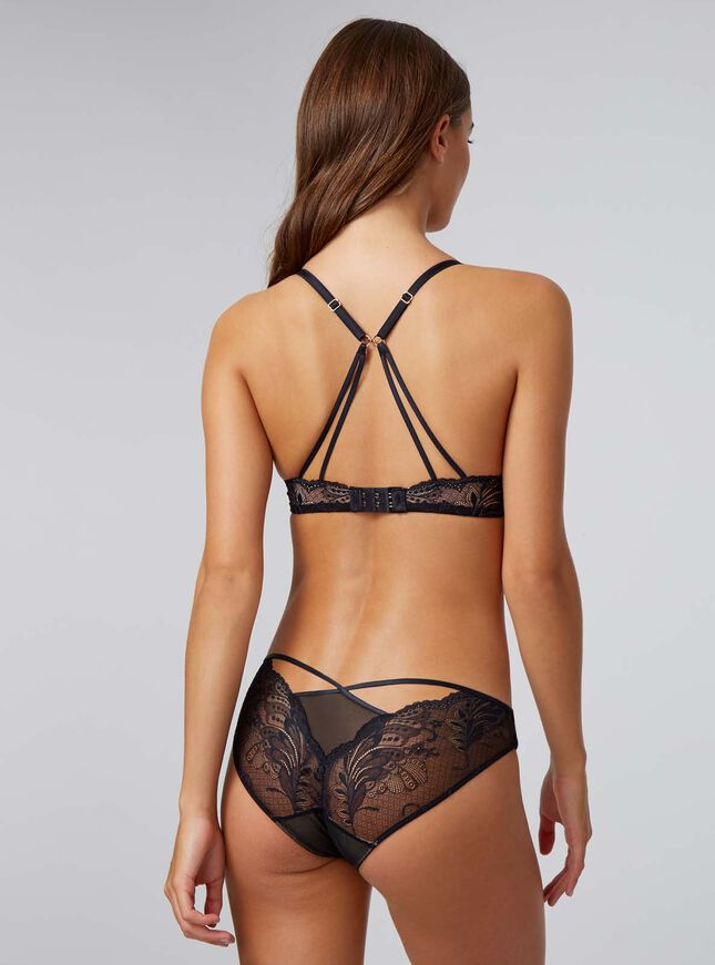 Amari strappy lace briefs