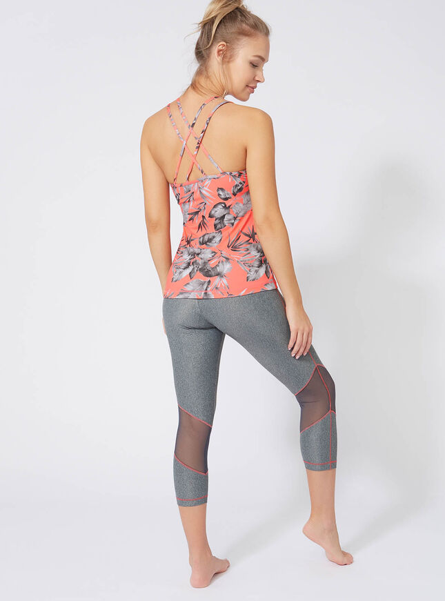 Activewear palm strappy vest