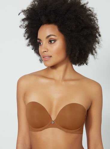 7f6b82ebdc8c8 Strapless padded plunge bra. in 5 colours. quick view