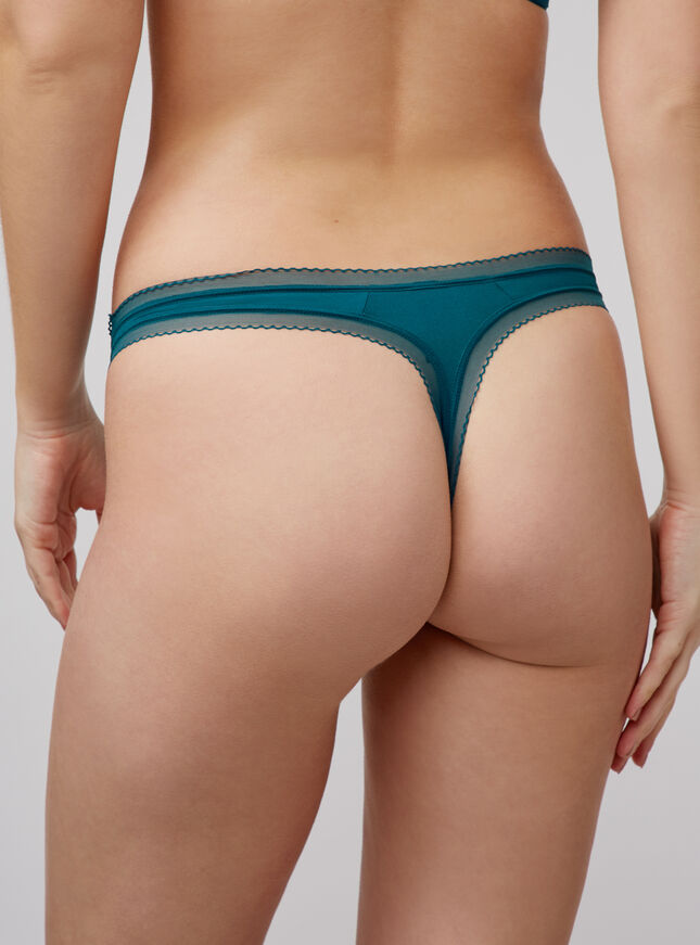 Lillie microfibre thong