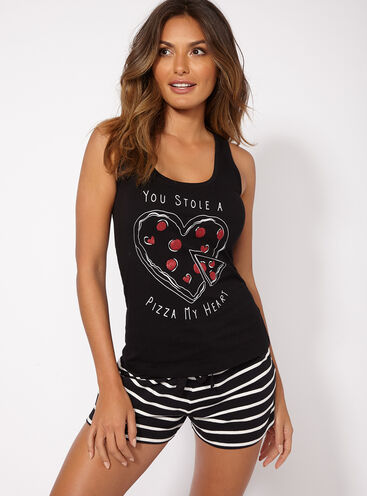 Pizza my heart pyjama set