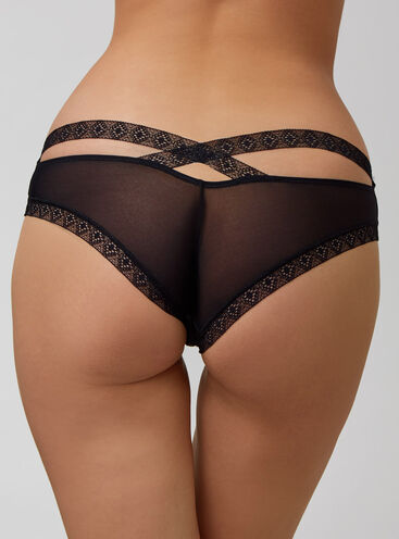 Lace trim Brazilian briefs