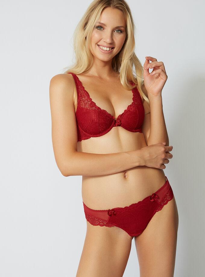 fca3b5d929b24 Tori lace plunge bra. Model wears size 32C