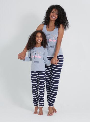 Winter flamingo Family pyjama set
