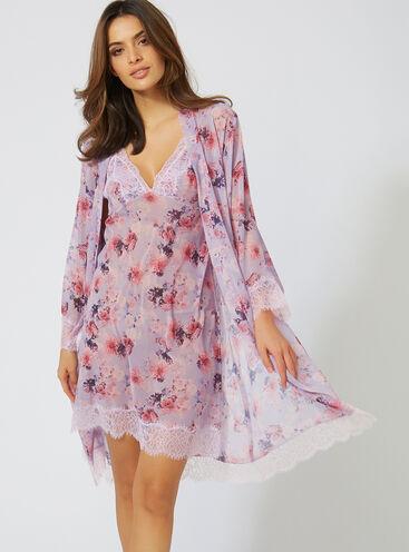 Harriet printed chiffon kimono