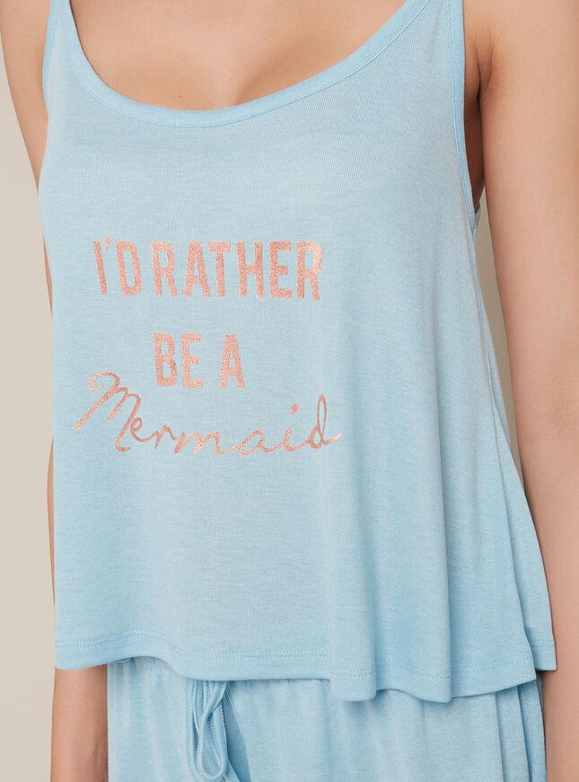 Mermaid cami and shorts pyjama set