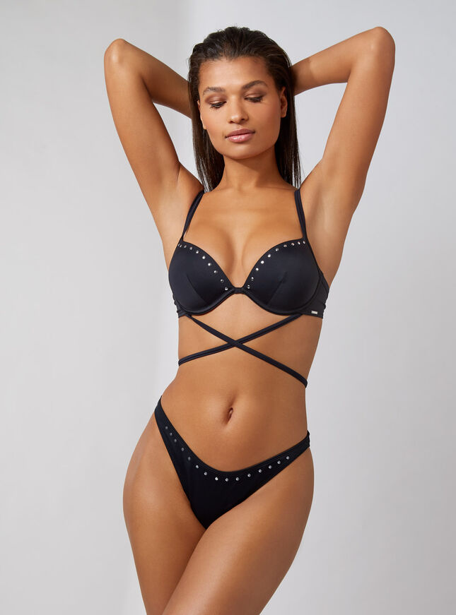 Muscat studded Brazilian bikini briefs