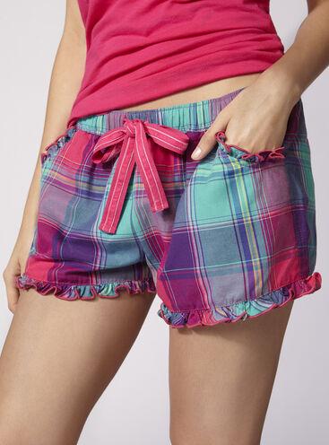Jewel bright check shorts