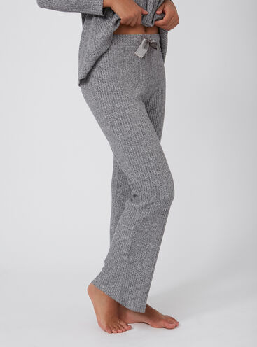 Brushed rib lounge pants