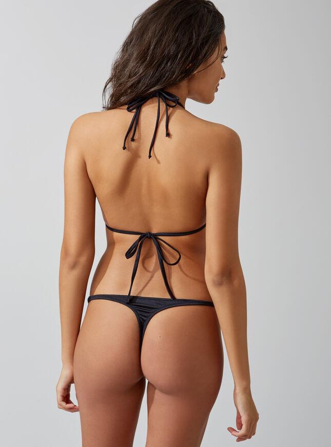 Ring detail thong bikini bottoms