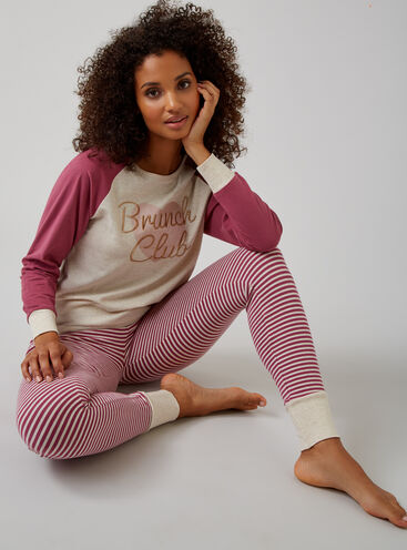 """Brunch club"" pyjama set"