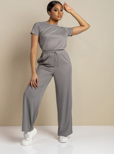 Tilly ribbed wide leg jumpsuit