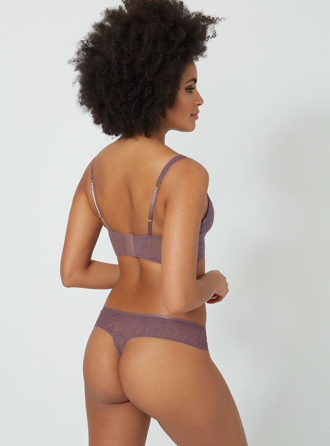 Deco lace thong