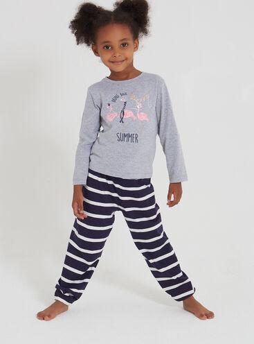 Girls winter flamingo pyjama set