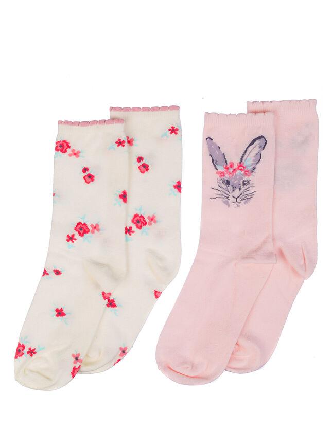 2 pack bunny socks