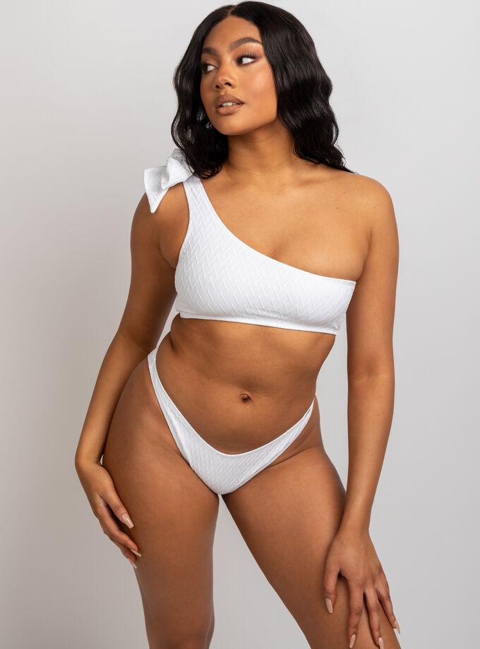Java textured high leg brazilian bikini briefs